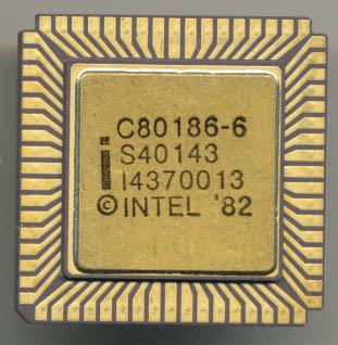 Original Intel 6MHz 80186 Made in 1984