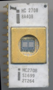 Unusual double marked Intel HC2708. Intel used 'H' for a brief time to denote a windowed DIP package.