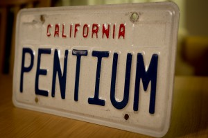 Original PENTIUM California License (number) plate