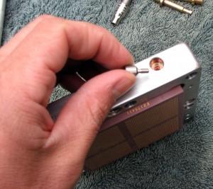 Remove the relief screw