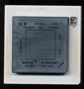 HP Alpha 21364 EV7z 1.3GHz - 2006 One of the last made