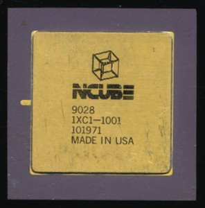 nCube/2 Processor - 20MHz The logo is a tesseract - 4-way Hypercube