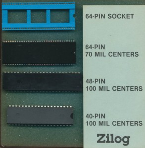 Zilog Packages available in 1985