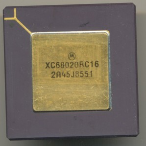 1985 production 68020 'XC' denotes a not fully qualified device.