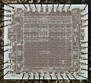 Four-phase AL1 Die - Courtesy of Computer History Museum