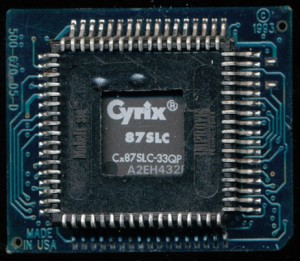 This version included the FPU A Cyrix Cx87SLC-33