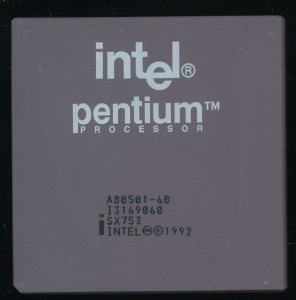 Intel A80501-60 SX753 - Early 1993 containing the FDIV bug