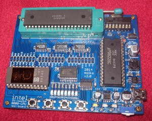 MCS-80 testboard with included Tungsram 8080APC processor