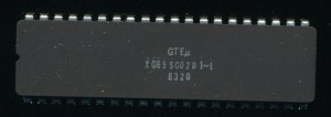 GTE Micro Engineering Sample of a 65SC02 - which was copied by Hua Ko