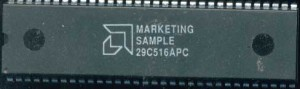 AMD 29C516APC - Marketing Sample of the CMOS 29516 multiplier, which could be mated to the 29501
