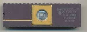 TI TMP77C82JDL-SD - 1993 pre-production 8K CMOS UV-EPROM TMS7000