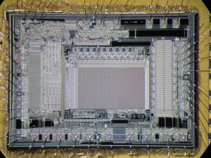 TMS7742 - 4K EPROM with serial + extra timers. Notice how the strips just grew, but the layout remains the same