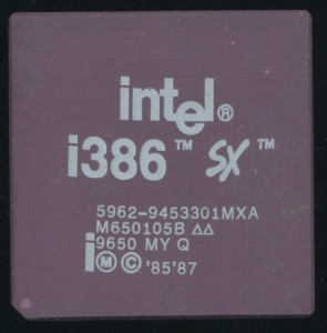 Intel 5962-9453301MXA MG80386SX16 - 16MHz 80386SX - 1996 Full Milspec