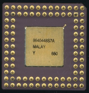 Intel MG80386SX16 in a 88-pin PGA