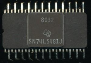 TI SN74LS481J -1980 - 8 MHZ 4-bit Slice