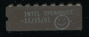 Intel Open House Chip form 1981 - Likely a 214x SRAM