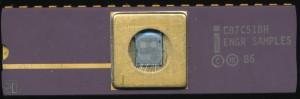 Intel C87C51BH ENGR SAMPLES - 1986 - CHMOSIII-E 1.5u