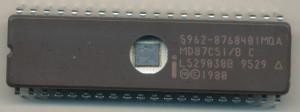 Intel MD87C51/B-B 5962-8768401MQA - 1995 - Note shrunk die,