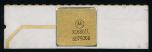 Motorola XC6801L - Early White ceramic package from 1979. XC denotes a not fully qualified part.