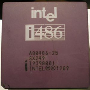 Intel A80486DX-25 - SX249 - B4 Mask from Sept 1989 with FPU Bugs