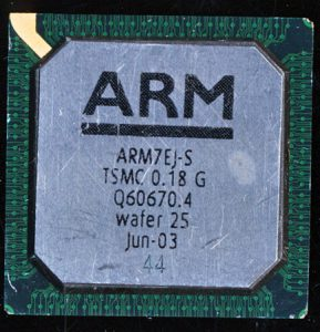ARM7EJ-S on a TSMC 0.18u Process. Wafer #25 from June 2003