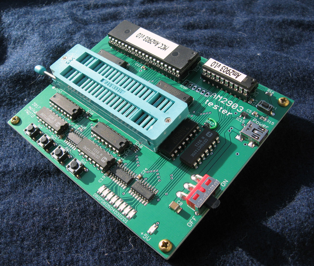 AMD AM2903/29203/2901 MMI 6701 and 74181 BSP and ALU Test Boards For